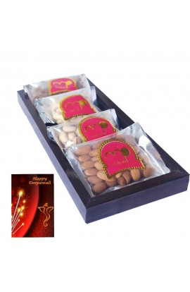 Diwali Premium Quality Dry Fruits with Wooden Tray