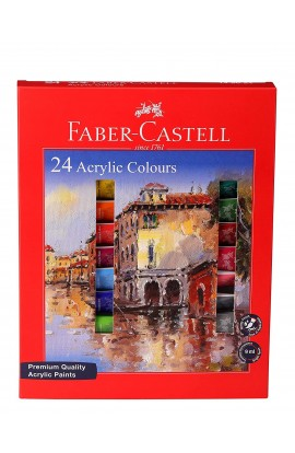 faber-castell Acrylic Colour 24 shades in 9 ml 149024