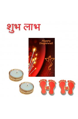 Diwali Stickers and Candle Combo