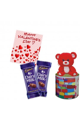 Maalpani Teddy Bear With Chocolate and Greeting Card | Gifts For Him -her - Boy - Girl - Friend - Father -  Mother